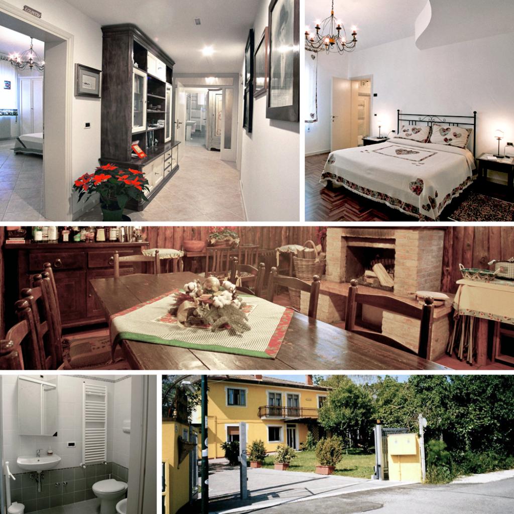 Camere e servizi della Casa del Miele
